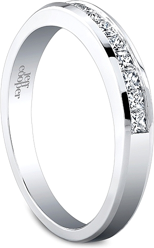 Jeff Cooper Princess Cut Channel Set Wedding Band 3148B