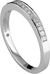 Jeff Cooper Princess Cut Diamond Wedding Band