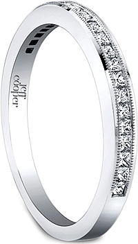Jeff Cooper Princess Diamond Wedding Band