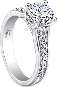 Jeff Cooper Prong Set Diamond Engagement Ring