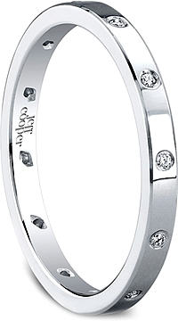Jeff Cooper Round Diamond Eternal Collection Wedding Band