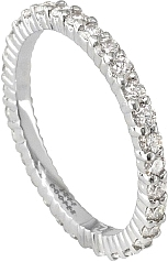 Jeff Cooper Round Diamond Eternity Wedding Band