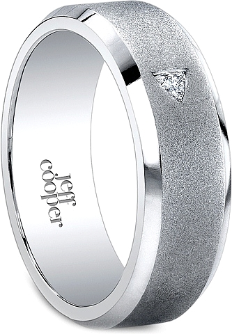 jeff cooper satin finish mens diamond wedding band 7mm r3002