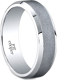 Jeff Cooper Satin Men's Wedding Band-6mm