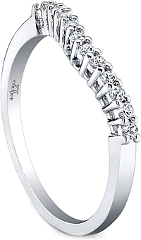 Jeff Cooper Shared Prong Diamond Wedding Band