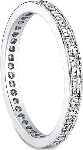 Jeff Cooper Square Baguette Diamond Wedding Band R3304E