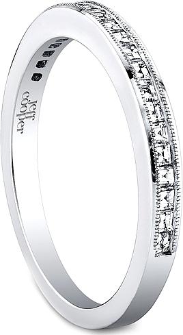 Jeff Cooper Square Baguette Diamond Wedding Band R3309B