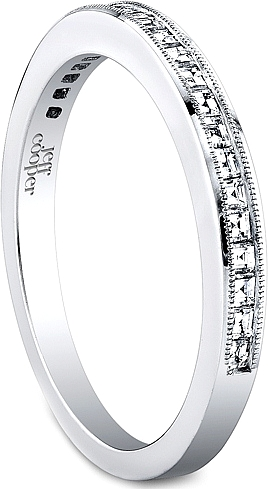 Jeff Cooper Square Baguette Diamond Wedding Band R3309B