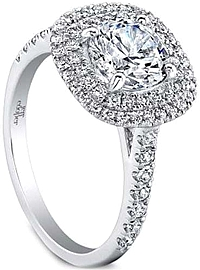 Jeff Cooper 'Teagan' Double Halo Diamond Engagement Ring