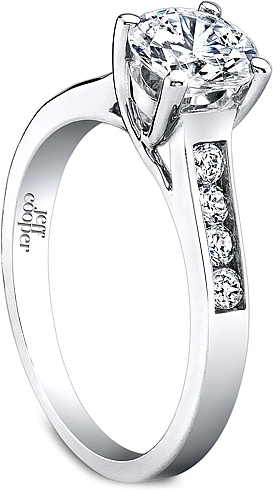 diamond ring buy engagement shoulder accented rings set round abelini side product