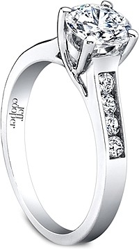 Jeff Cooper Trellis Engagement Ring with Channel-Set Side Diamonds