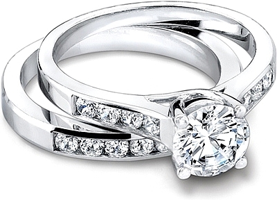 Jeff Cooper Trellis Engagement Ring With Channel Set Side Diamonds 2976