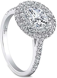 Jeff Cooper 'Trinity' Double Halo Diamond Engagement Ring