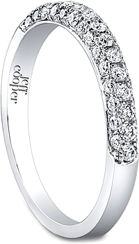 Jeff Cooper Triple Row Diamond Wedding Band