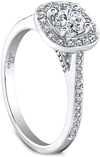 Jeff Cooper 'Twyla' Pave Diamond Engagement Ring