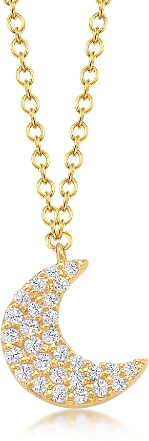 Jordan scott pave diamond moon pendant js n4685 aloadofball Image collections