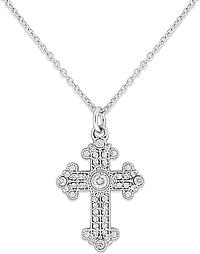 KC Designs 14K White Gold Diamond Cross
