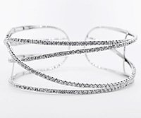 KC Designs 14k White Gold Diamond Cuff Bracelet