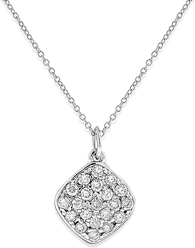 Kc designs 14k white gold diamond pendant kc n13003 mozeypictures Images