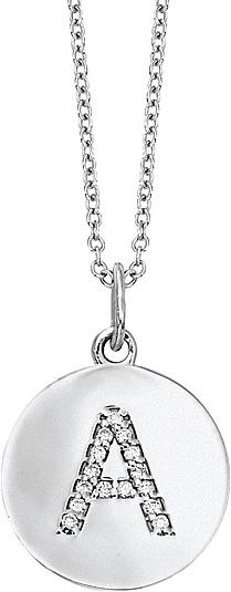 Kc designs 14k white gold pave diamond initial pendant kc n7444 a view photos aloadofball Image collections
