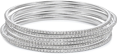 c white diamond bangles tw gold bangle