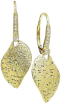 KC Designs 14K Yellow Gold Diamond Earrings