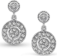 KC Designs Diamond Antique Style Earrings