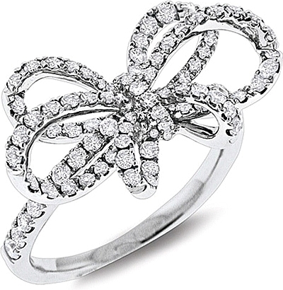 heart gold bow rings crystal online plated wedding austrian buy love