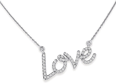 Kc designs diamond love necklace n7621 aloadofball Image collections