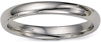 Ladies 14k White Gold Comfort-Fit Wedding Band - 2.5mm