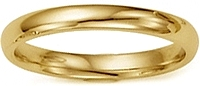 Ladies 18k Yellow Gold Comfort-Fit Wedding Band - 2.5mm