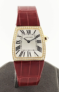 Large 18k Gold Cartier La Dona with diamonds