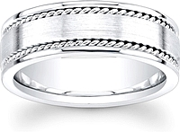 Men's Double Rope Wedding Band- 8mm