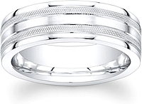 Men's Milgrain Wedding Band-7mm