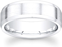 Men's Satin Finish Wedding Band- 7mm