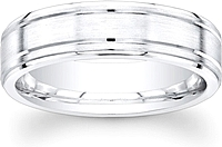 Men's Satin Finish Wedding Band-6mm