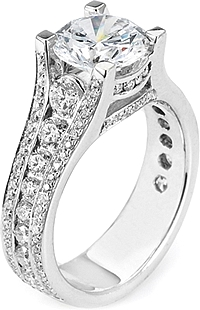 Michael M. Channel Set Diamond Engagement Ring