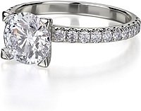Michael M. Diamond Engagement Ring
