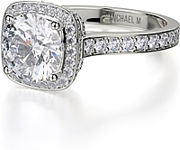 Michael M. Diamond Halo Engagement Ring