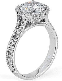 Michael M. Double Row Diamond Engagement Ring