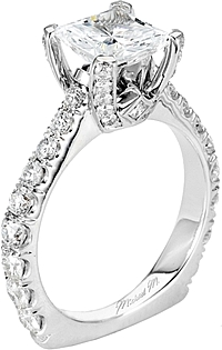 Michael M. Euro Shank Diamond Engagement Ring