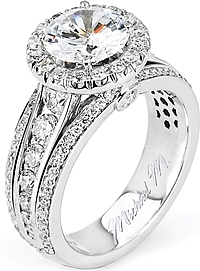 Michael M. Graduated Diamond Engagement Ring