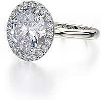 Michael M Halo Diamond Engagement Ring