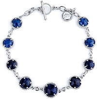 Michael M. Midnight Blue Sapphire  & Diamond Bracelet