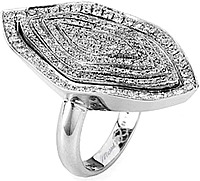 Michael M. Pave Modern Diamond Ring