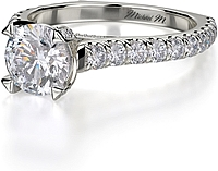 Michael M. Prong Set Diamond Engagement Ring