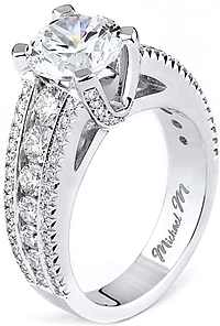 Michael M Round Brilliant Cut Diamond Engagement Ring