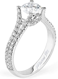 Michael M. Split Shank Diamond Engagement Ring