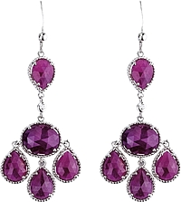 Michael M Sterling Silver Sapphire Chandelier Earrings