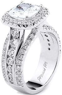 Michael M Triple Band Diamond Engagement Ring